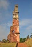 Ruines de l'église de St Augustine, Goa, Inde Image stock