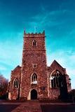 Ruines de l'église de vieux St Peter en parc de château, Bristol, Angleterre image stock