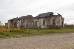 Ruines de l'église de la nativité de la Vierge bénie sur Spassky Kokshengsky Pogost Photo stock