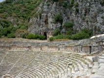 Ruines de l'amphithéâtre antique image stock