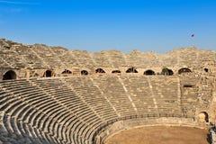 Ruines de l'amphithéâtre antique Images libres de droits