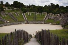 Ruines de l'amphithéâtre romain Image stock