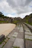 Ruines de l'amphithéâtre romain Photographie stock