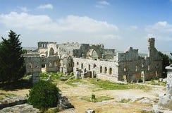 Ruines de la basilique des Stylites de Simeon Image stock