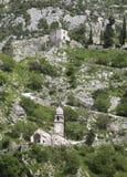 Ruines de la forteresse au-dessus de Kotor Photos libres de droits