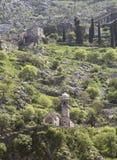 Ruines de la forteresse au-dessus de Kotor Photographie stock libre de droits