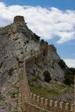 Ruines de la forteresse de Gênes Photographie stock