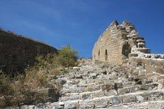 Ruines de la Grande Muraille, section de Jinshanling Photos stock