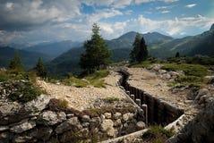 Ruines de la première guerre globale Image libre de droits
