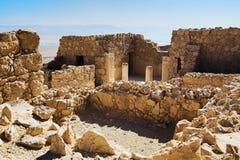 Ruines de la résidence du ` s de commandant dans la forteresse de Masada, Israël Photos stock