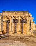 Ruines de la synagogue blanche Images stock