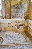 Ruines de la villa des oiseaux, l'Alexandrie, Egypte images stock