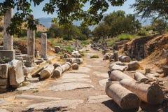 Ruines de la ville antique d'Ephesus Images libres de droits