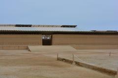 Ruines de la ville antique de Chan Chan, Pérou image stock