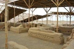 Ruines de la ville antique de Chan Chan, Pérou photo libre de droits
