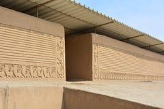 Ruines de la ville antique de Chan Chan, Pérou photos stock