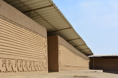 Ruines de la ville antique de Chan Chan, Pérou photographie stock libre de droits