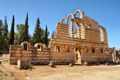 Ruines de la ville d'Umayyad d'Anjar images stock
