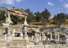Ruines de la ville Ephesus du grec ancien Photo stock