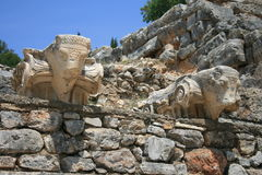 Ruines de la ville Ephesus du grec ancien Photo libre de droits