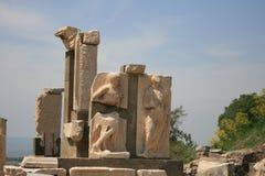 Ruines de la ville Ephesus du grec ancien Images libres de droits