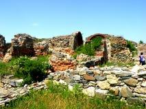 Ruines de la ville grecque antic Histria images stock