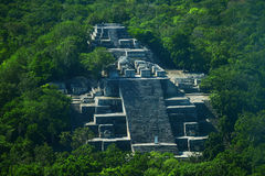 Ruines de la ville maya antique de Calakmul Photos stock
