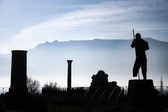 Ruines de la ville de Pompeii images stock