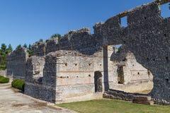 Ruines de la ville romaine antique Tashiaka, près de la commune de Thesee photographie stock libre de droits