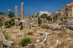 Ruines de la ville romaine en pneu Photo libre de droits
