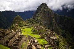 Ruines de Machu Picchu d'en haut Image libre de droits