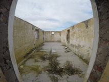 Ruines de maison Photo stock