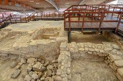 Ruines de maison d'Eustolios chez Kourion sur la Chypre Image stock