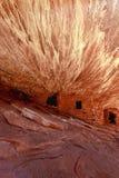 Ruines de maison de Pueble des gens d'Anasazi Images stock