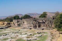Ruines de Mandav de Royal Palace un site d'héritage images libres de droits