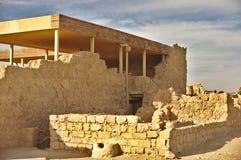 Ruines de Masada image libre de droits