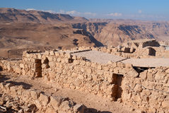Ruines de Masada Photo libre de droits