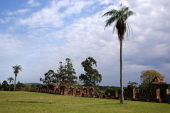 Ruines de mission de jésuite au Trinidad Paraguay Photos libres de droits