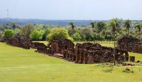 Ruines de mission de jésuite au Trinidad Paraguay Image libre de droits