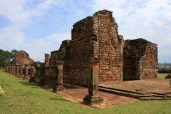 Ruines de mission de jésuite au Trinidad, Paraguay Photographie stock libre de droits