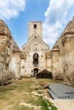 Ruines de monastère Katarinka au-dessus du village de Dechtice, Slov photo libre de droits