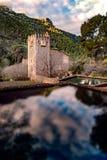 Ruines de monastère médiéval de Jeronimos en Espagne Photos stock