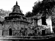 Ruines de Nepal em Kathmandu imagens de stock