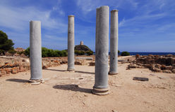 Ruines de Nora photographie stock libre de droits