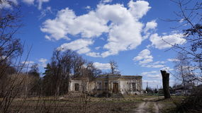 Ruines de palais d'Osten-Saken Photos stock