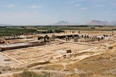 Ruines de Persepolis - capitale antique de l'empire persan Photos stock