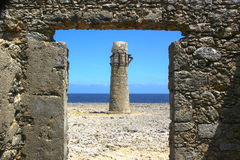 Ruines de phare Photo libre de droits