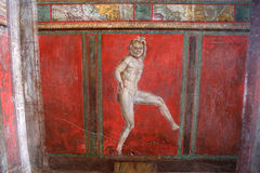 Ruines de Pompéi, près de Naples, l'Italie Photographie stock libre de droits