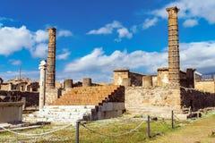 Ruines de Pompeii antique, ville romaine détruite par le volcan du Vésuve image stock