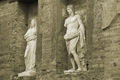 Ruines de Pompeii dans la sépia Photos libres de droits